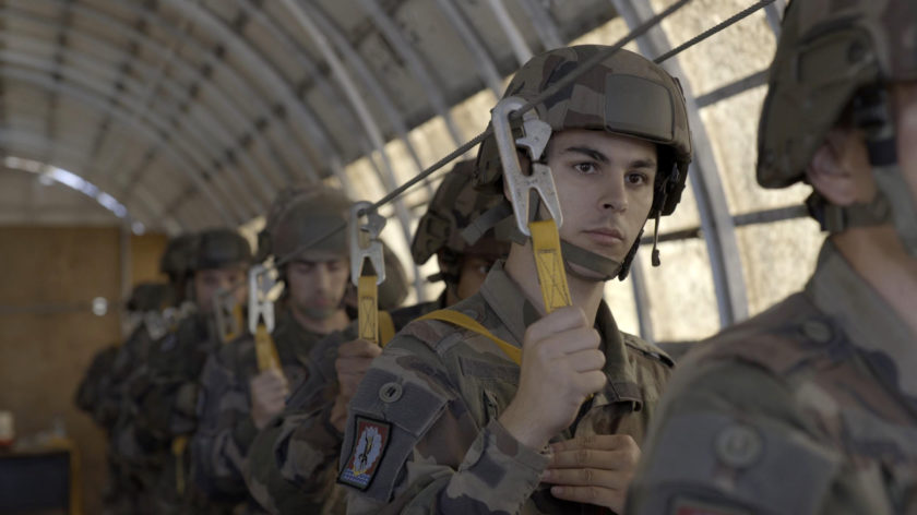 Les parachutistes français en plein entrainement au 1er RTP